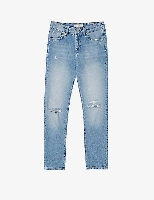 REISS: Lakely straight mid-rise jeans