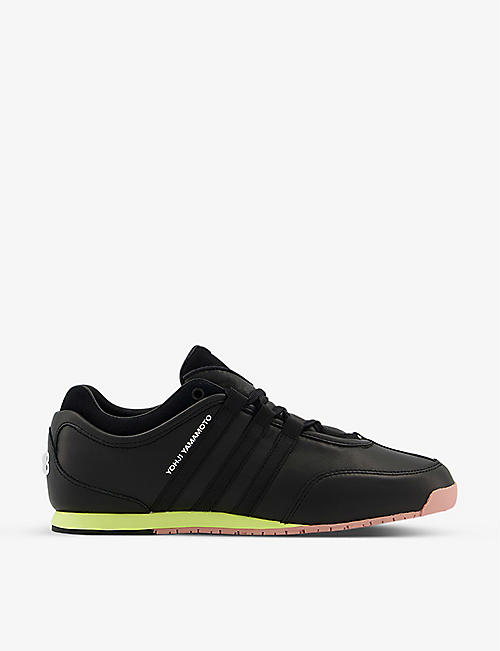 ADIDAS Y3: Y-3 Boxing leather and suede trainers
