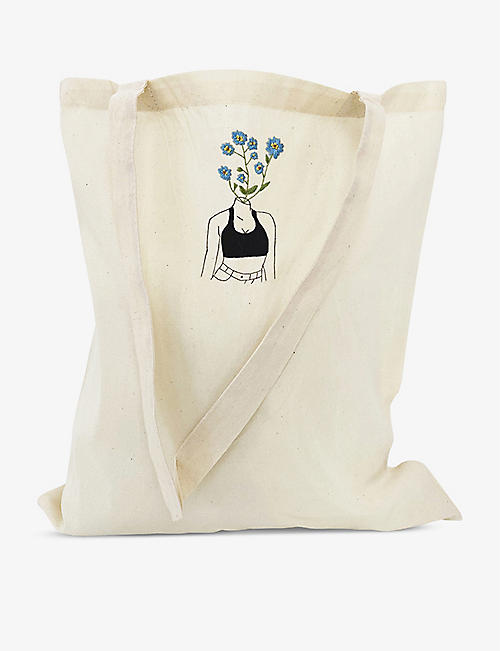 STITCH WITH SKYE: Forget Me Not tote bag embroidery kit