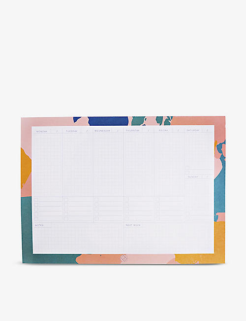 THE COMPLETIST: Palette Knife Weekly Planner Pad 21cm x 29.7cm