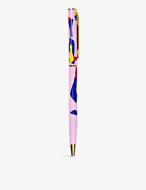 THE COMPLETIST: Lava gold-trimmed metal fine ballpoint pen