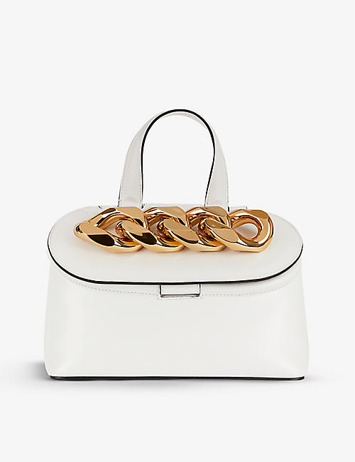 JW ANDERSON: Chain Lid small leather cross-body bag