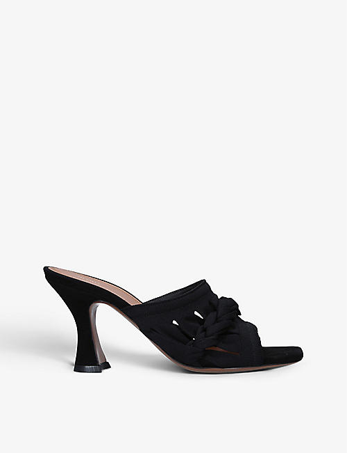 NEOUS: Sham Eye recycled-nylon heeled mules