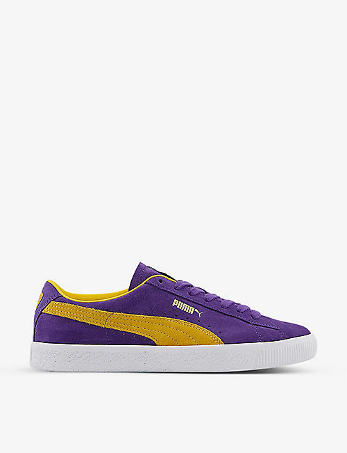 PUMA: Teams low-top suede trainers