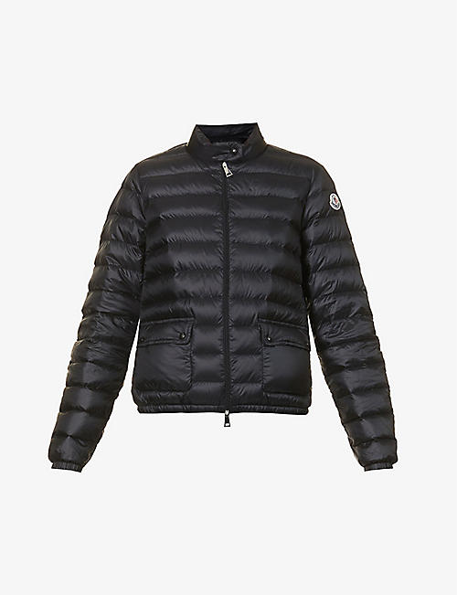 MONCLER: Lans patch-pocket shell-down jacket