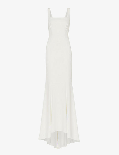 WHISTLES: Mia square-neck crepe wedding gown