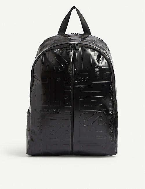DIESEL: Bold Back logo-debossed woven backpack