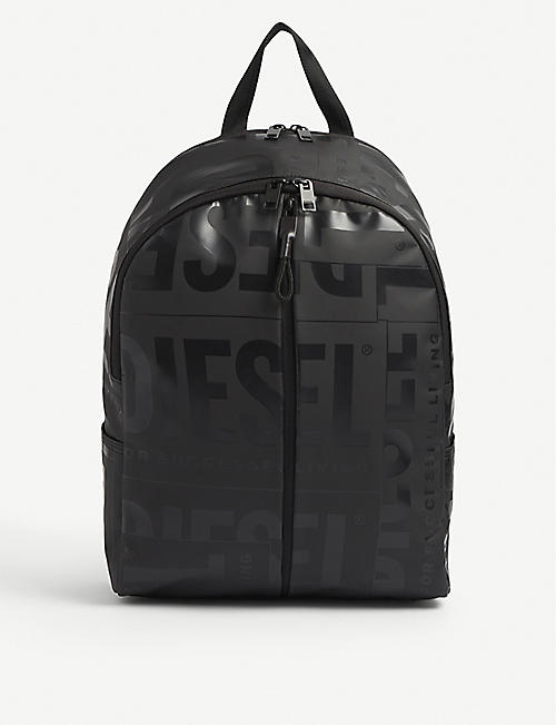 DIESEL: Bold Back logo-debossed faux-leather backpack