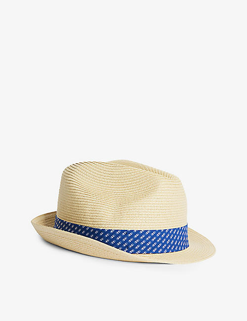 TED BAKER: Swash straw trilby hat