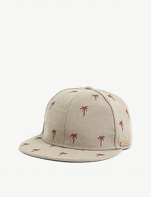 BARTS AL: Pauk embroidered woven-blend baseball cap