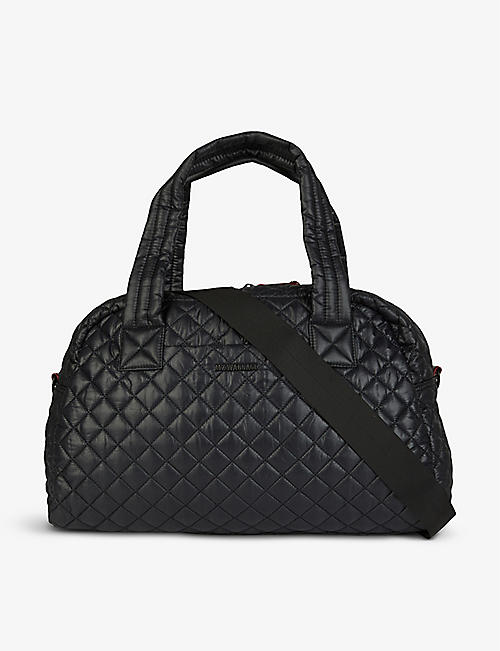 MZ WALLACE: Jimmy quilted nylon duffel bag