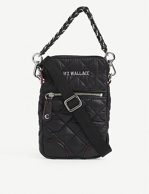 MZ WALLACE: Crosby micro quilted nylon cross-body bag