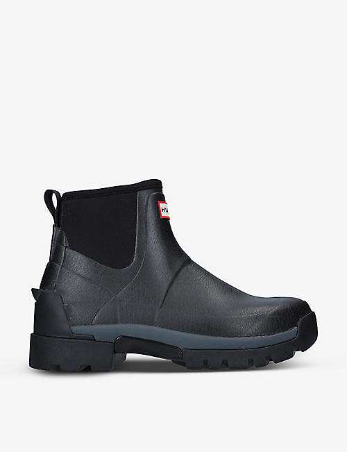 HUNTER: Field Balmoral Hybrid rubber ankle boots