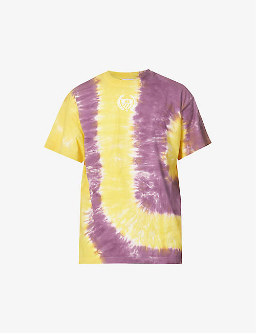 BELAIR ATHLETICS: Tie dye-print cotton-jersey T-shirt