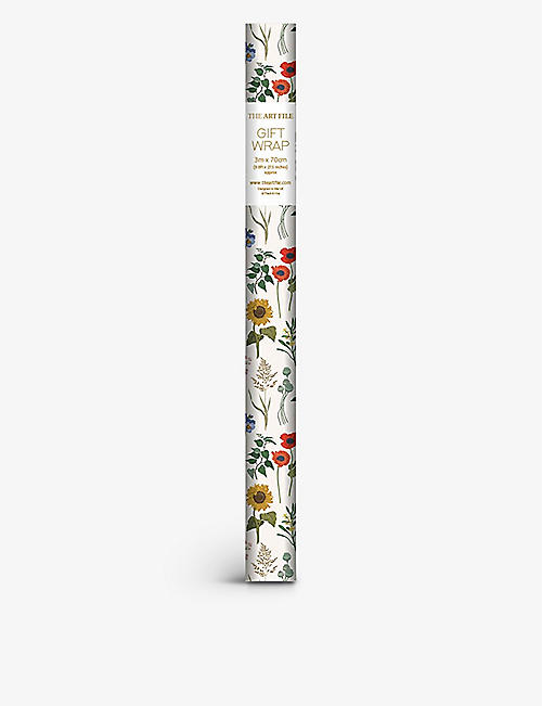 THE ART FILE: Sunflower floral-print wrapping paper 3m