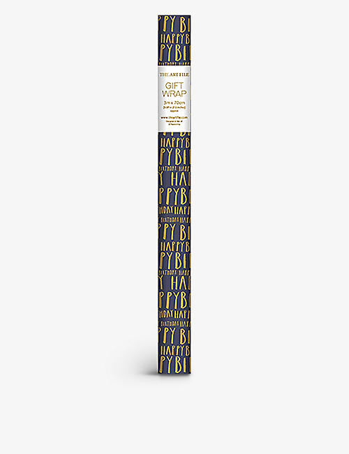 THE ART FILE: Just My Type printed wrapping paper 3m