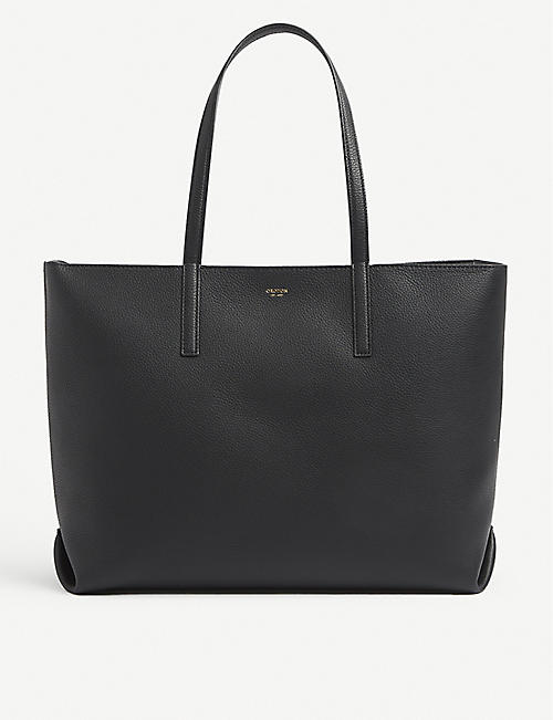 OROTON: Duo medium leather tote bag