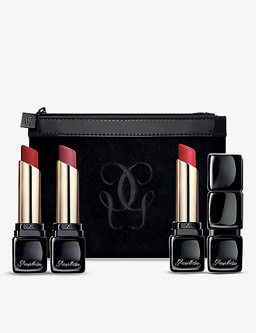 GUERLAIN: KissKiss Tender matte lipsticks trio set