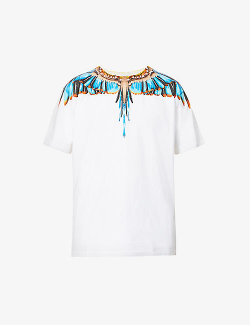 MARCELO BURLON: Grizzly Wings graphic-print cotton-jersey T-shirt