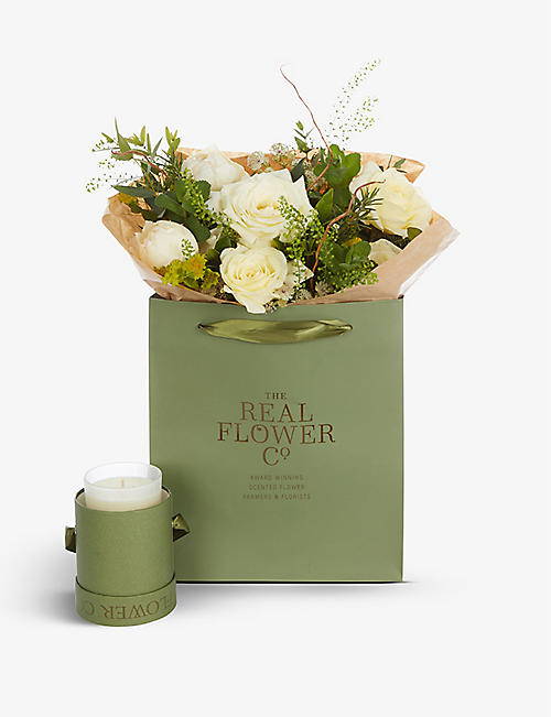 THE REAL FLOWER COMPANY: Mother's Day Radience scented posy and candle