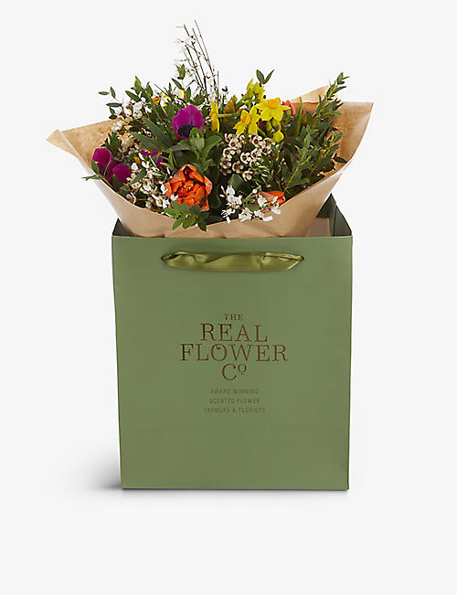 THE REAL FLOWER COMPANY: Mother's Day Spring Garden scented small bouquet