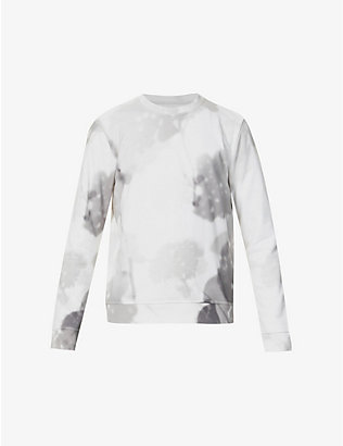 FENDI: Floral-print relaxed-fit cotton-jersey sweatshirt