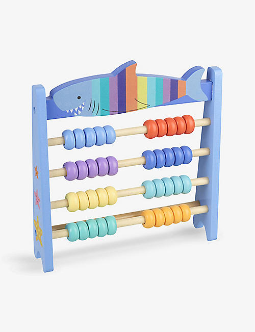 ORANGE TREE TOYS: Shark-themed wooden abacus playset