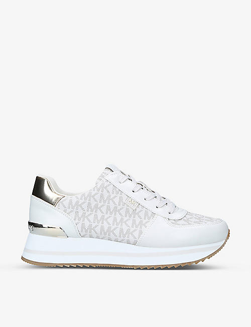 MICHAEL MICHAEL KORS: Monique logo-embossed leather trainers