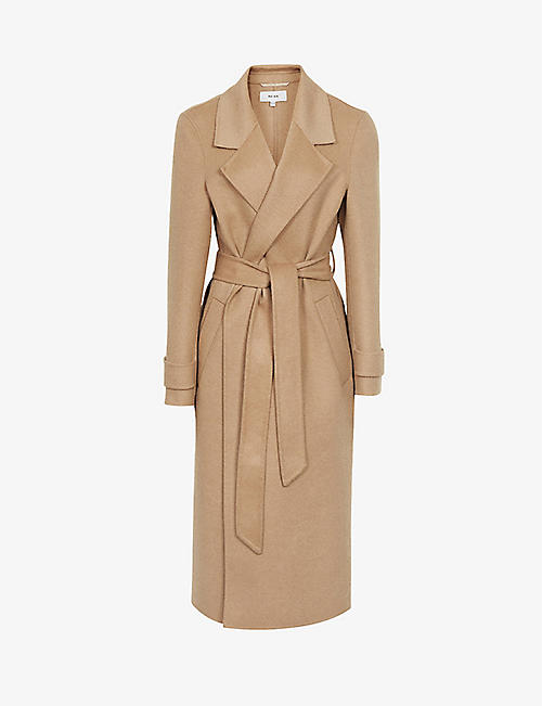 REISS: Leah belted wool-blend coat