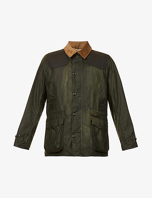BARBOUR: Oakby waxed-cotton jacket
