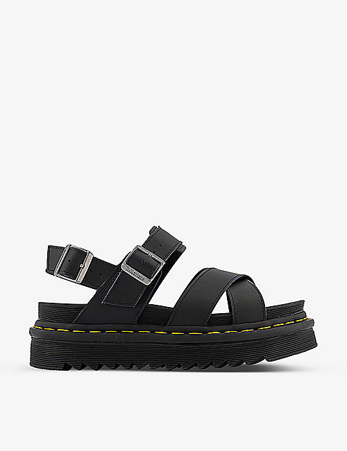DR. MARTENS: Voss II cross-straps leather sandals