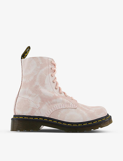 DR. MARTENS: 1460 Pascal tie-dye leather ankle boots