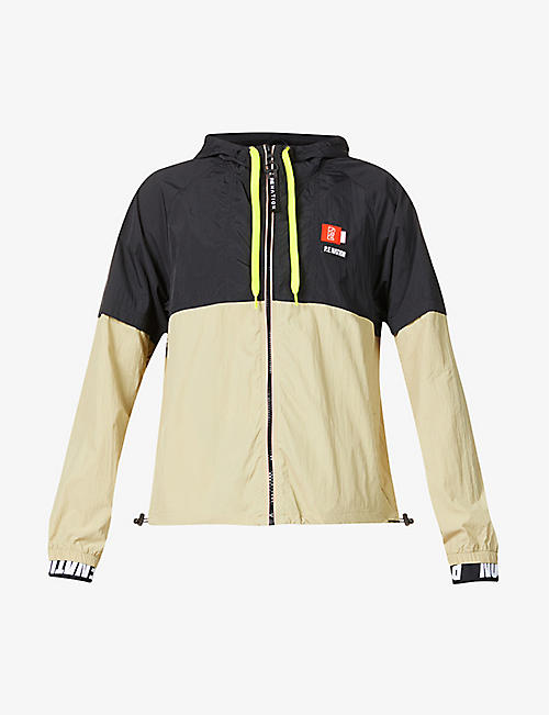 P.E NATION: Propel logo-embroidered shell jacket