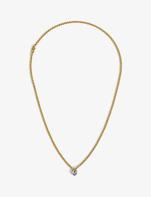 OTIUMBERG: Link Up 14ct yellow gold-plated vermeil sterling-silver chain necklace