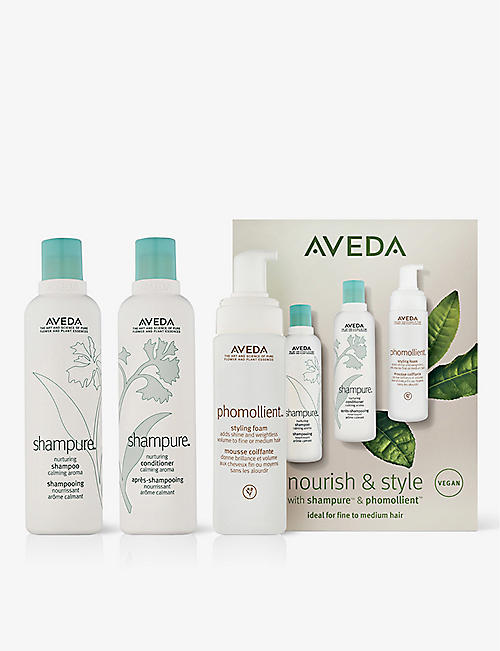 AVEDA: Nourish and Shine Shampure and Phomollient set