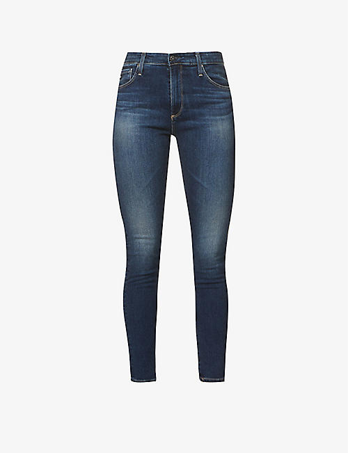 AG: The Farrah skinny high-rise stretch-denim jeans