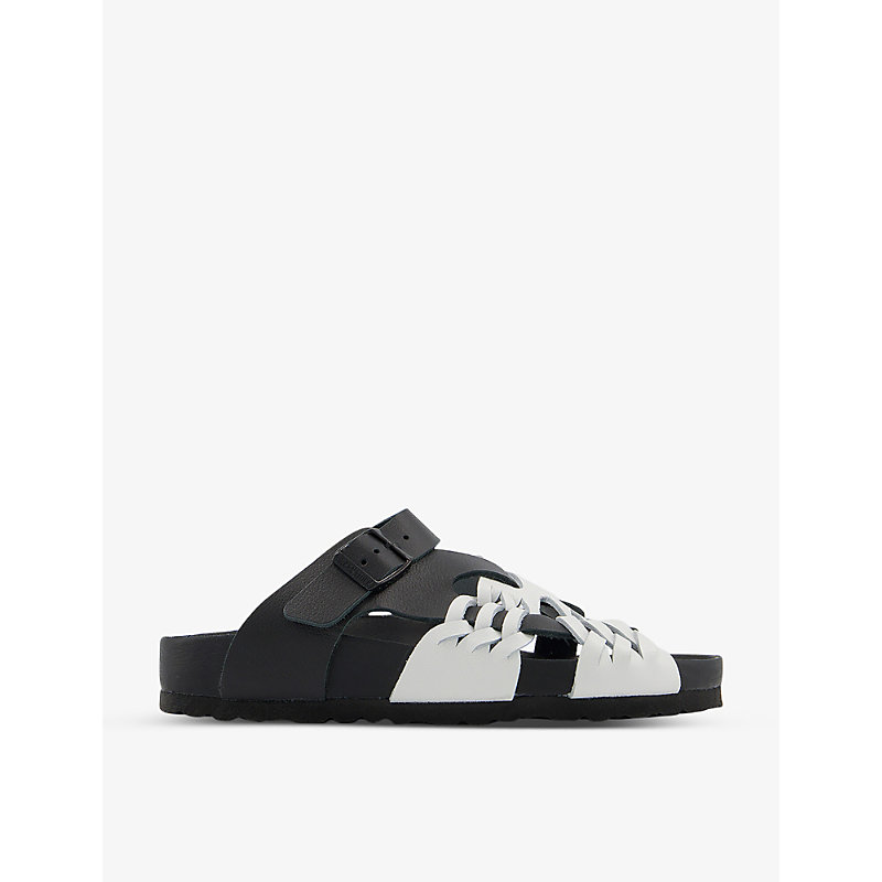 Birkenstock Flats X CSM TALLAHASSEE ARCHIVE RE-ISSUE STYLE GRAINED-LEATHER SANDALS