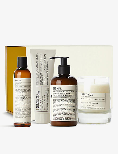 LE LABO: Rose 31 and Santal 26 bath and body gift set