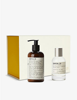 LE LABO: Santal 33 body lotion and eau de parfum gift set
