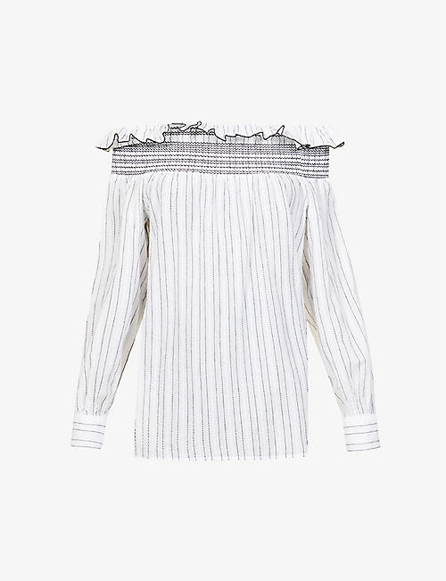 PINKO: Affranto off-shoulder cotton top