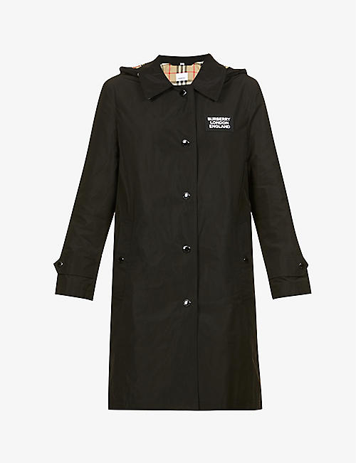 BURBERRY: Oxclose branded shell coat