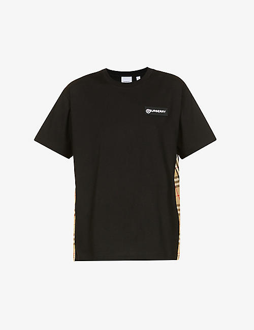 BURBERRY: Carrick branded cotton-jersey T-shirt