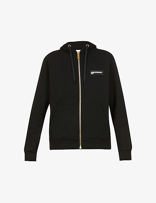 BURBERRY: Aubree branded cotton-jersey hoody
