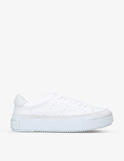 ALL SAINTS: Trish leather low-top trainers