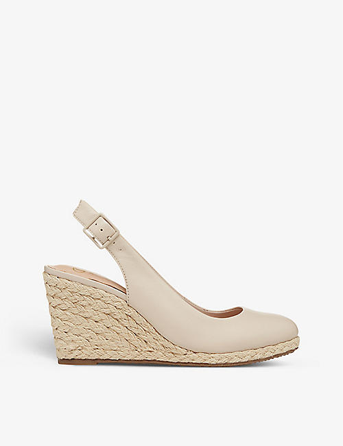 DUNE: Codi slingback espadrille-wedge leather sandals