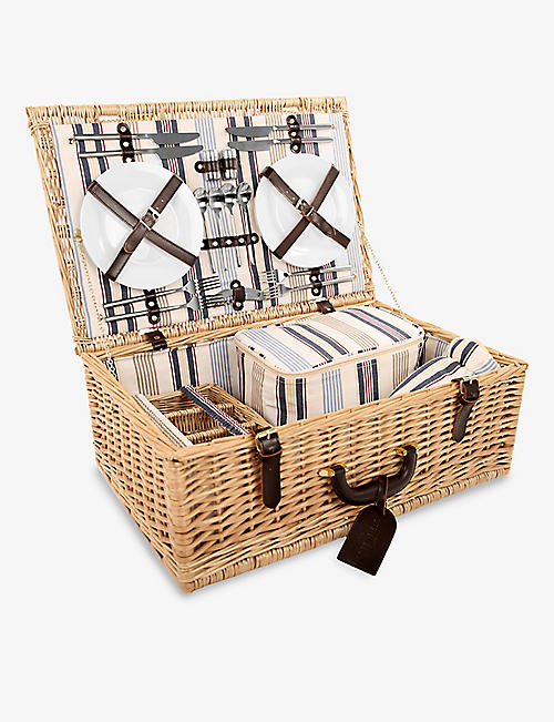 GREENFIELD COLLECTION: Beaulieu four-person willow picnic hamper