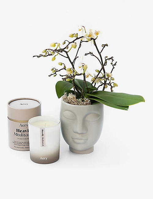 YOUR LONDON FLORIST: Tenderness orchid and scented candle gift set