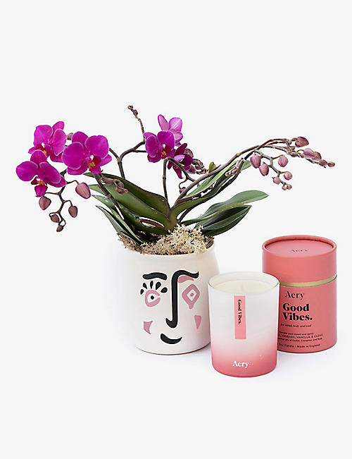 YOUR LONDON FLORIST: Cheer Up orchid and scented candle gift set