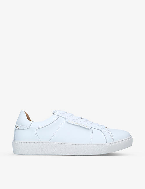 ALL SAINTS: Sheer logo-print low-top leather trainers