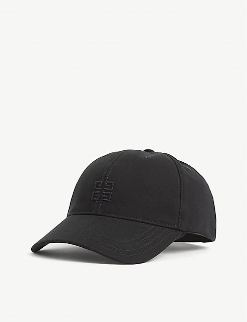 GIVENCHY: Logo-embroidered cotton-canvas cap